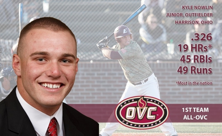Horticulture major Kyle Nowlin selected 1st Team All-OVC