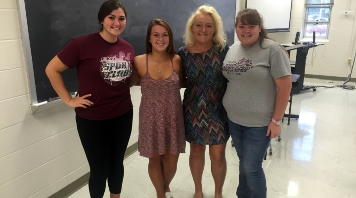 EKU Agriculture Club Elects New Officers (l-r): McKay, Tillman, Tucker, Darnell