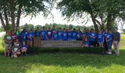 Farm Director Justin McKinney (far right) with KSD campers