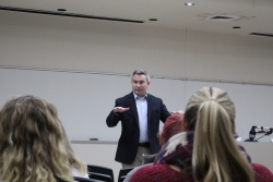Mr. Ryan Quarles, KY Commissioner of Agriculture, lectures in Rogow Auditorium