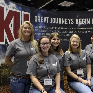 EKU AG Ambassadors at the National FFA Career Expo