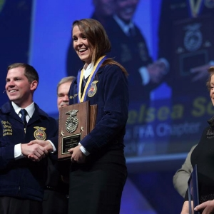Chelsey Schlosnagle at the National FFA Convention